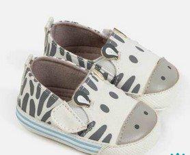 παπουτσακια μωρου αγορι ζεβρα
