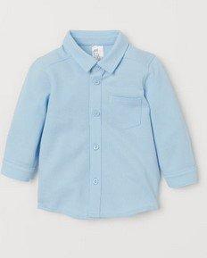 πουκαμισο γαλαζιο h&m