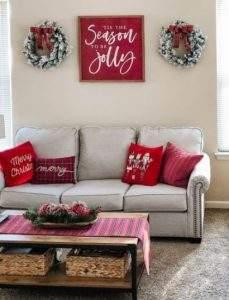 χριστουγεννιάτικη διακόσμηση στο σαλόνι