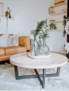 στρογγυλό τραπέζι σαλονιού ξύλο