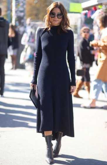 μίντι φόρεμα με μποτάκι πάνω από τον αστράγαλο