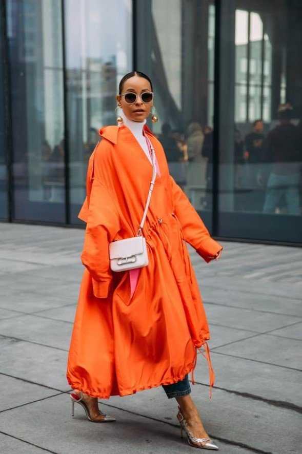 πορτοκαλί παλτό