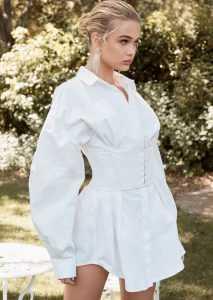 πουκάμισο φόρεμα με κορσέ