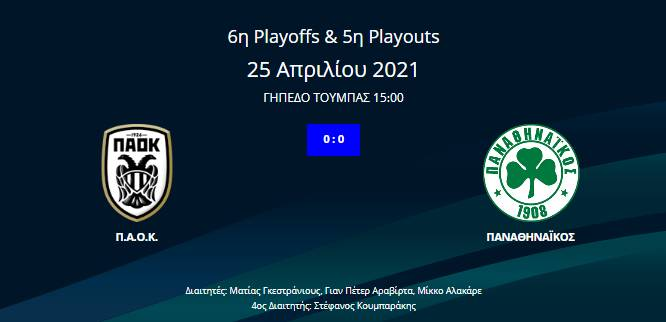 ΠΑΟΚ - Παναθηναϊκός 0-0