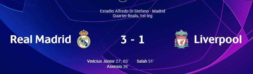 Ρεάλ Μαδρίτης - Λίβερπουλ 3-1